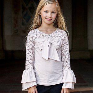 Joyfolie Mia Joy Bowery Top in Pink Girls 14